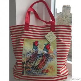Alex Clark Large Canvas Shopper Bag - Pleasant Pheasants