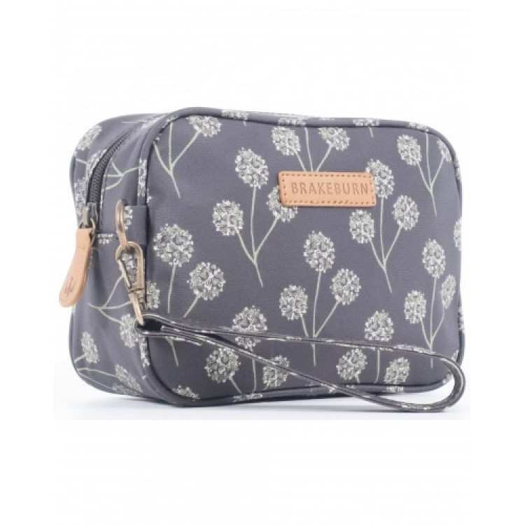 Brakeburn Floral Small Wash Bag Charcoal - BBLBAG001248F16