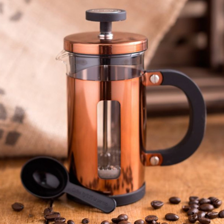 la cafetiere pisa 3 cup copper finish coffee maker with. Black Bedroom Furniture Sets. Home Design Ideas