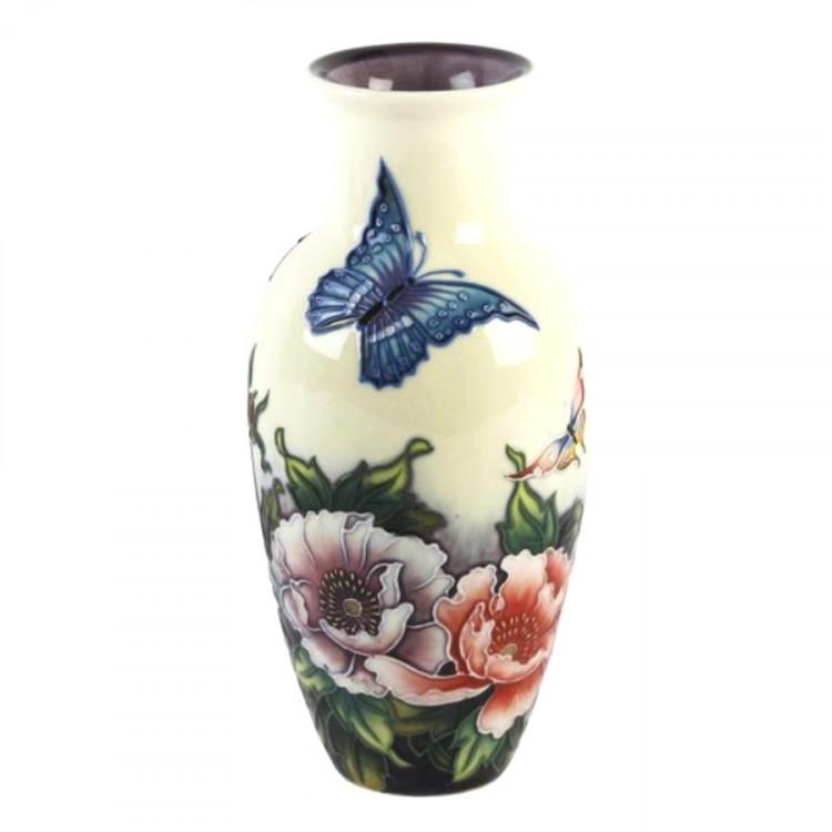 Old Tupton Ware Butterflies Pattern Vase 8 5 Inch
