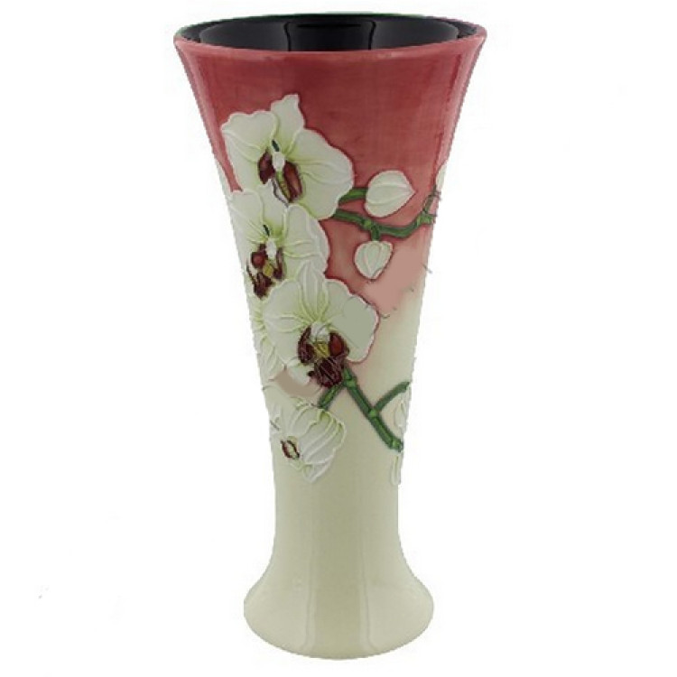 Old Tupton Morning Orchid Vase 8 Inch