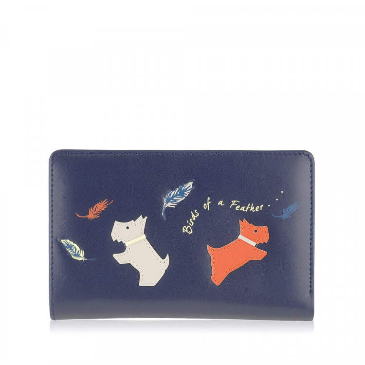 radley birds of a feather medium zip purse midnight blue i radley birds of a feather medium zip purse midnight blue