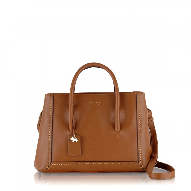 Radley Boundaries Medium Multi Compartment Grab Bag Tan