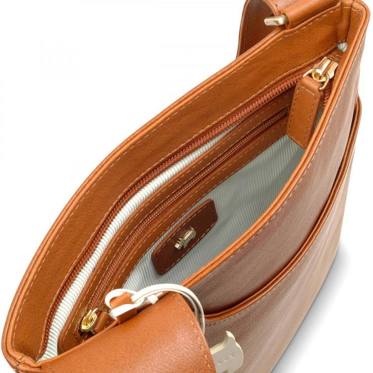 radley pocket bag leather large zip top cross body bag tan best ... 3b275cb431447