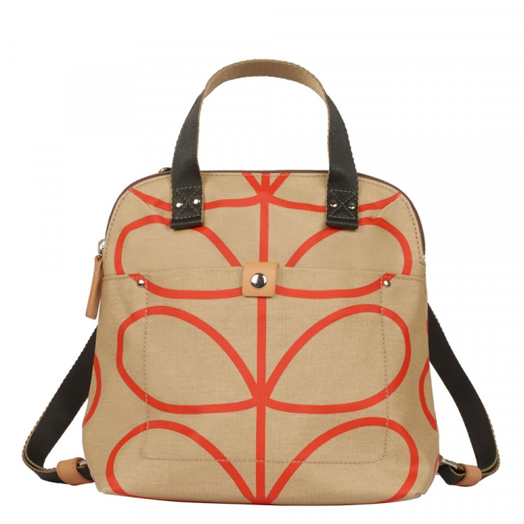 Orla Kiely Giant Linear Stem Print Small Backpack Tote 6d3810f943648